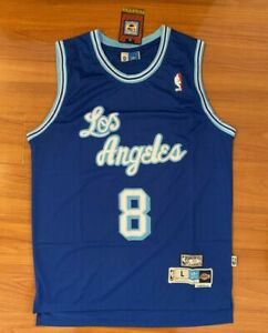 Details about New Los Angeles Lakers Kobe Bryant Blue Hollywood Nights Jersey Small - XXL