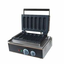 V0 Commercial Electric Muffin Hot Dog Waffle Machine 110v Breadfast Making New