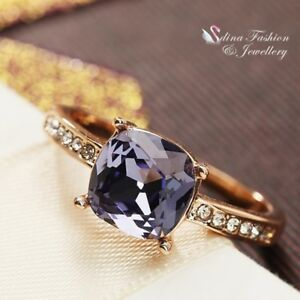 18K-Rose-Gold-Plated-AAA-Grade-Cubic-Zirconia-Cushion-Cut-Exquisite-Lilac-Ring