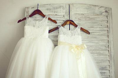 Baby Girls Flower Formal Wedding Bridesmaid Party Christening Dress AGE 2-14 YRS