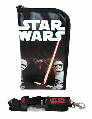 Star Wars Kylo Ren Lanyard Fastpass ID Ticket Holders with Detachable Coin Purse