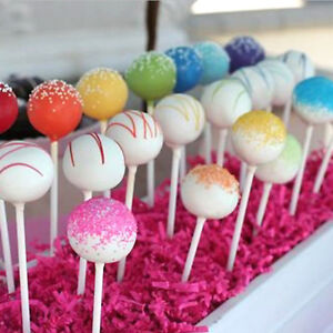 100 Stuck Cake Pops Sticks Set Lollipop Lutscher Kuchen Am Stiel 7cm
