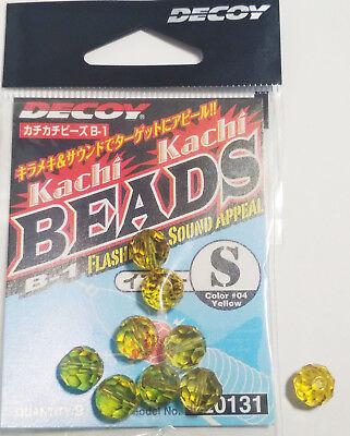 """Decoy Kachi Kachi Beads B-1 Size /""""S/"""" Color #01 Clear"""