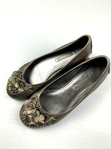 ECCO-Womens-Leather-Comfort-Ballet-Flat-Shoes-Size-36-6-Gold