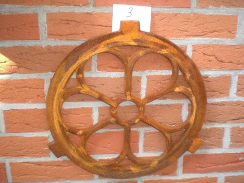 Stallfenster Gusseisenfenster Giebelfenster Kirchenfenster Eisen Ø 43cm REPRO