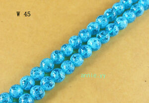 200Pcs-4mm-Blue-Lampwork-Glass-Spacer-Loose-Beads-DIY-Craft-W45