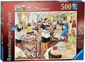 Ravensburger 500 piece jigsaw puzzle Happy At Work The Waitress New & Sealed