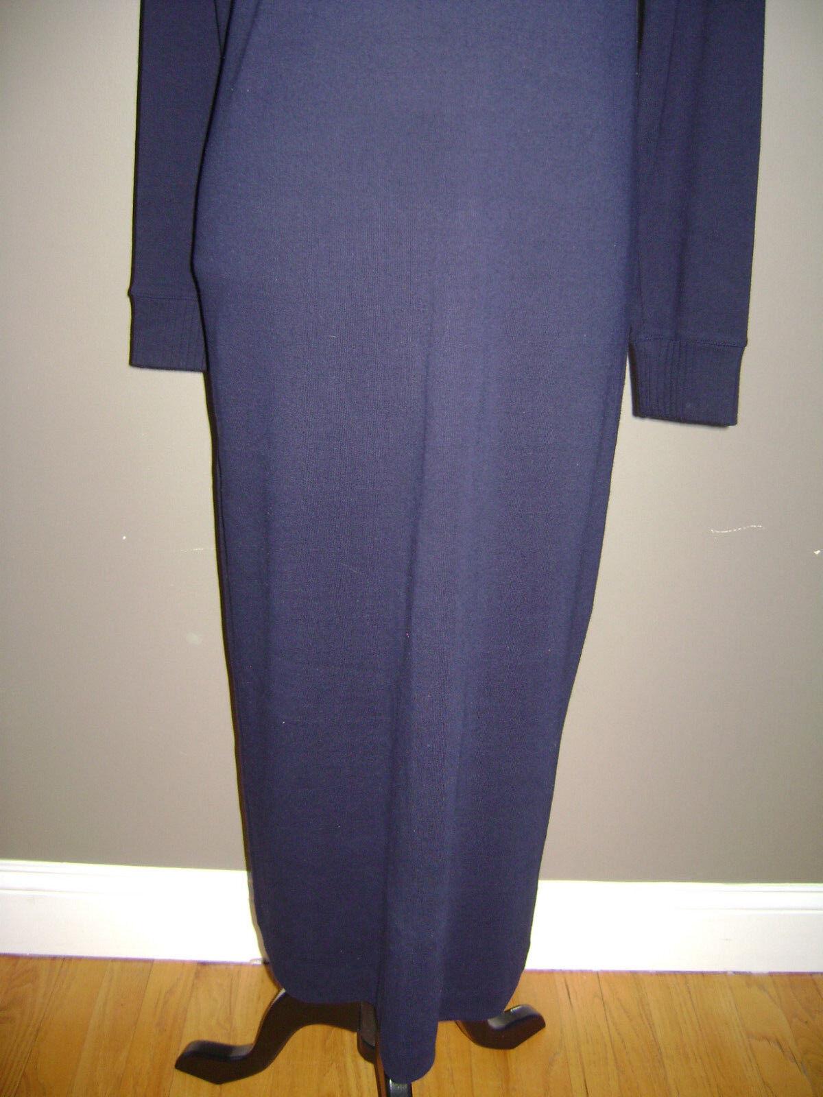 RALPH LAUREN WOMEN LONG SLEEVE DRESS size S BLUE … - image 3