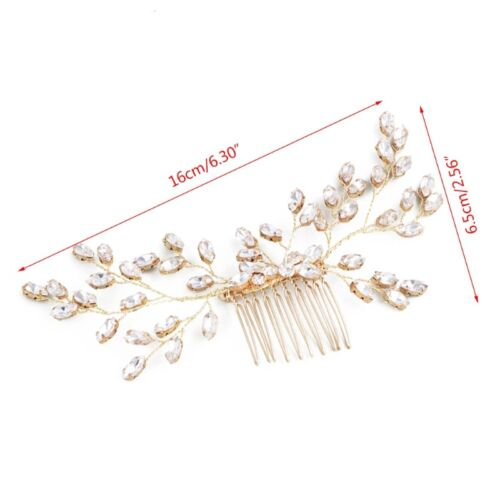 Hochzeit Braut-Haar-Kamm-Blumen-Kopfschmuck Frauen Schmuck Prom Tiara