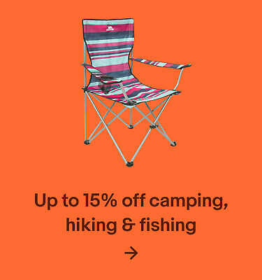 Up to 15% off camping, hiking & fishing