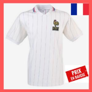 Détails sur Maillot Equipe de France de Football 1982 Blanc Vintage FFF Livraison offerte