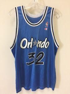48b529c6c Vintage Orlando Magic Shaquille O Neal Champion Jersey Basketball ...