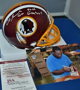 1e5d50dd Details about CHRIS SAMUELS SIGNED MINI HELMET WASHINGTON REDSKINS 80  GREATEST JSA