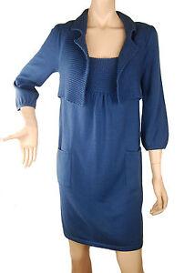 en Conmigo bleu London tricot Ee140 coton de Robe zx1w4Hqvv