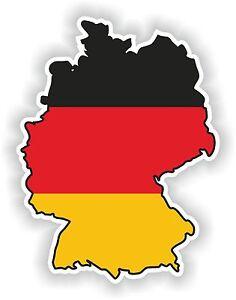 germany map flag sticker silhouette bumper decal aufkleber deutschland allemagne ebay. Black Bedroom Furniture Sets. Home Design Ideas