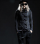 Punk-Mens-Turtleneck-Slim-Fit-Pullover-Personalized-Tee-Lace-UP-Casual-Shirt-Top thumbnail 1