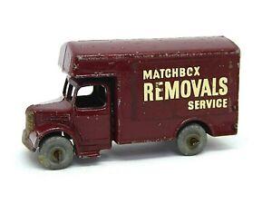 Matchbox-Lesney-Bedford-Removal-Van-No-17a-raro-Granate