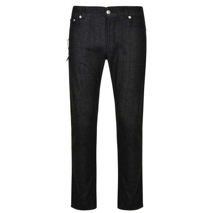 VERSUS VERSACE Safety Pin schwarz Jeans W32 Regular BNWT