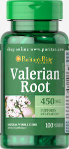 Puritan-039-s-Pride-Valerian-Root-450-mg-100-Capsules-free-shipping