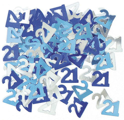 Foil Table Confetti 21th birthday party