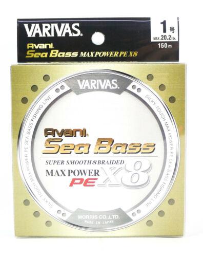Varivas P.E Linie Seabass Max Power X8 Gold 150m P.E 1 20.2lb 5790