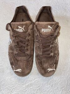 Nice-Used-PUMA-Speed-Cat-Drift-Chocolate-Suede-Driving-Shoes-Size-6-Sneakers