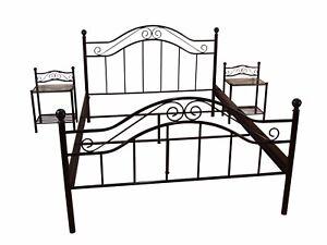 Metallbett Schwarz 180x200 Cm Bett Romantisch Ehebett Doppelbett