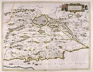 MAP-ANTIQUE-1654-SCOTLAND-BLAEU-FIFE-WEST-OLD-LARGE-REPLICA-POSTER-PRINT-PAM0123
