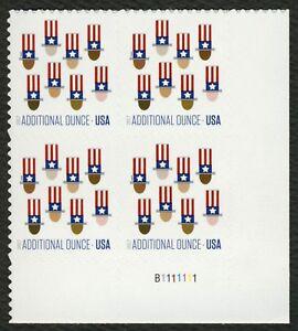 #5174 Uncle Sam's Sombrero, Placa Bloque [B1111111 LR ], Nuevo Cualquier 4=