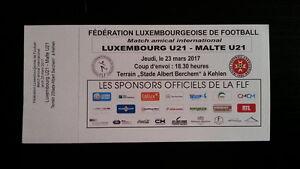 Ticket LUXEMBOURG - MALTA U-21 2017 Friendly - Poland, Polska - Ticket LUXEMBOURG - MALTA U-21 2017 Friendly - Poland, Polska