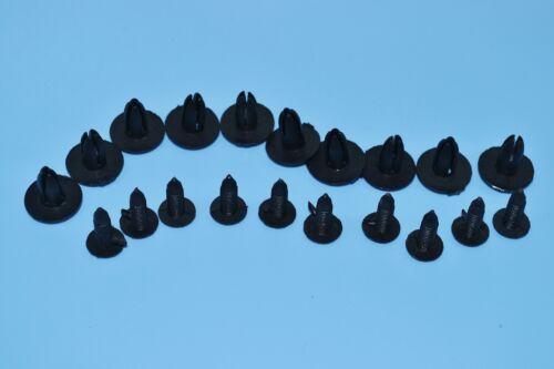 10 x bmw série 3 rivets en plastique noir clips garniture montage panneaux