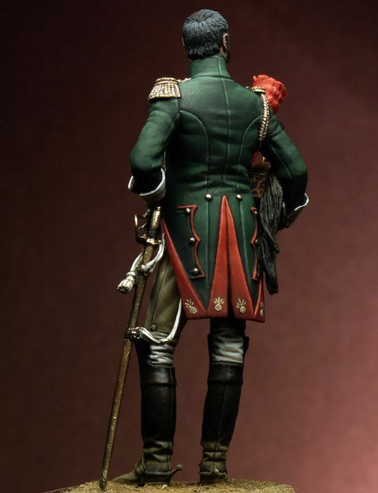 Tin soldier, museum, French Officer of the Empress' Empress' Empress' Dragoons, Cavalryman, 75mm e89e10