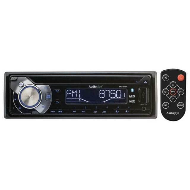 Audiopipe RAC107BT Bluetooth In-Dash Radio AM//FM//CD//USB w//Remote /& Sub Out