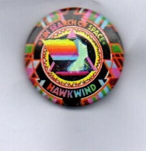 HAWKWIND-In-Search-Of-Space-BUTTON-BADGE-English-Rock-Band-Silver-Machine-25mm