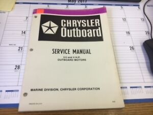 chrysler outboard service manual 3 5 and 4 h p outboard motors ob rh ebay com