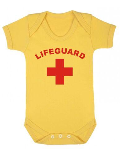 Baby grow-Cadeau Drôle Débardeur sauveteur Garçon Fille Douche baptême présent