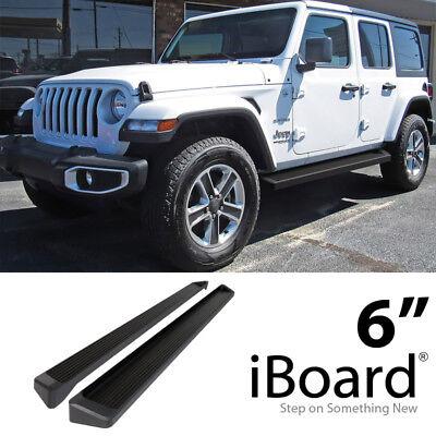 """Satin Black 4/"""" iBoard Side Step Nerf Bar Fit 18-20 Jeep Wrangler JL 4Dr"""