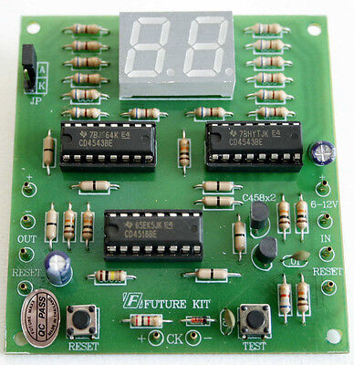 Digital Counter Circuit 2 Digit LED 7 Segments Display [Assembled