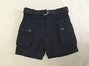 Ralph Lauren Baby Boys/' Belted Cargo Chino Shorts Navy Size 12M To 18M