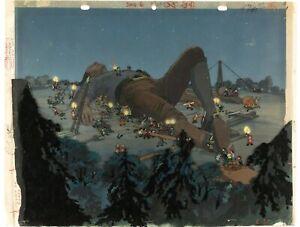 Gulliver-039-s-Travels-1939-Key-Master-setup-obg-Proudction-cels-animation-art