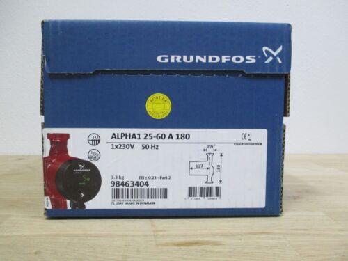 Pumpe Grundfos Alpha1 25-60 A 180 Energiesparpumpe 1x230V Pumpenkost P15//459