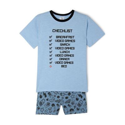 NEW Bauhaus Essentials Short Sleeve Pyjama Set Blue