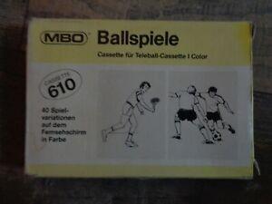MBO CASSETTE 610 --> BALLSPIELE