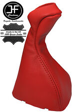 RED REAL LEATHER MANUAL GEAR KNOB GAITER COVER FITS MERCEDES E CLASS W211