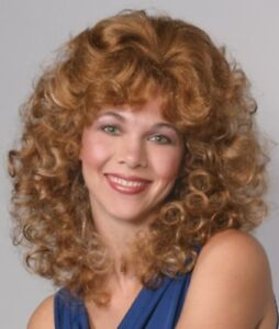 80 S Womens Medium Shoulder Length Wavy Curls Curly Skin