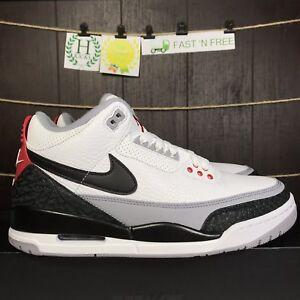 Nike Air Jordan Retro 3 Tinker Hatfield Black White Fire Red AQ3835 ... 2a5d1ab82