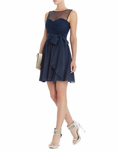 NEW-BCBG-MAX-AZRIA-DARK-INK-PHOEBE-STRAPLESS-A-LINE-WXC6L335-M45-DRESS-SIZE-2