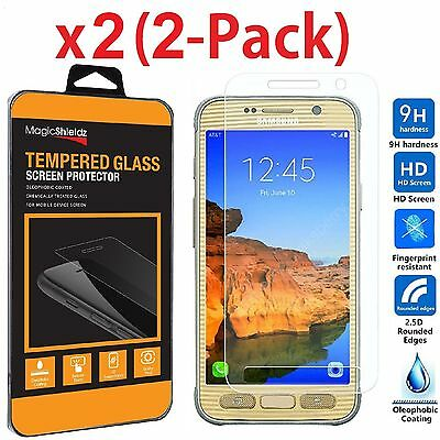 2 Pack Premium Tempered Glass Screen Protector For Samsung Galaxy S7 Active Ebay