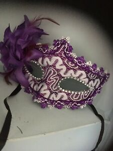 Mascarade Or Ball Tie On Mask Fancy Dress Mask White  Lace  Mask