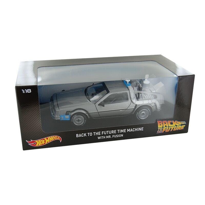 Hot Wheels 1 18 Volver al Futuro Máquina del tiempo DeLorean con el señor Fusion